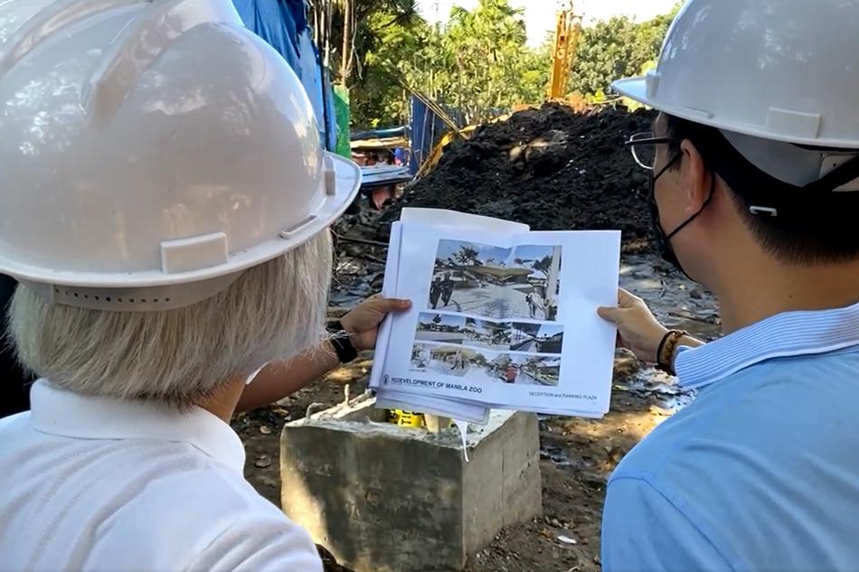Nag-inspeksyon sina Manila Mayor Isko Moreno Domagoso at Vice Mayor Honey Lacuna-Pangan sa ginagawang