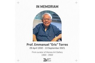 Former Ateneo professor Emmanuel Torres has passed away