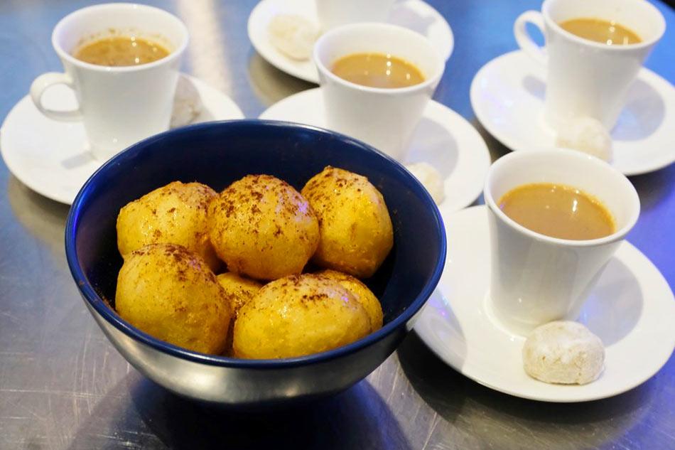Loukomades with Greek coffee. Jeeves de Veyra