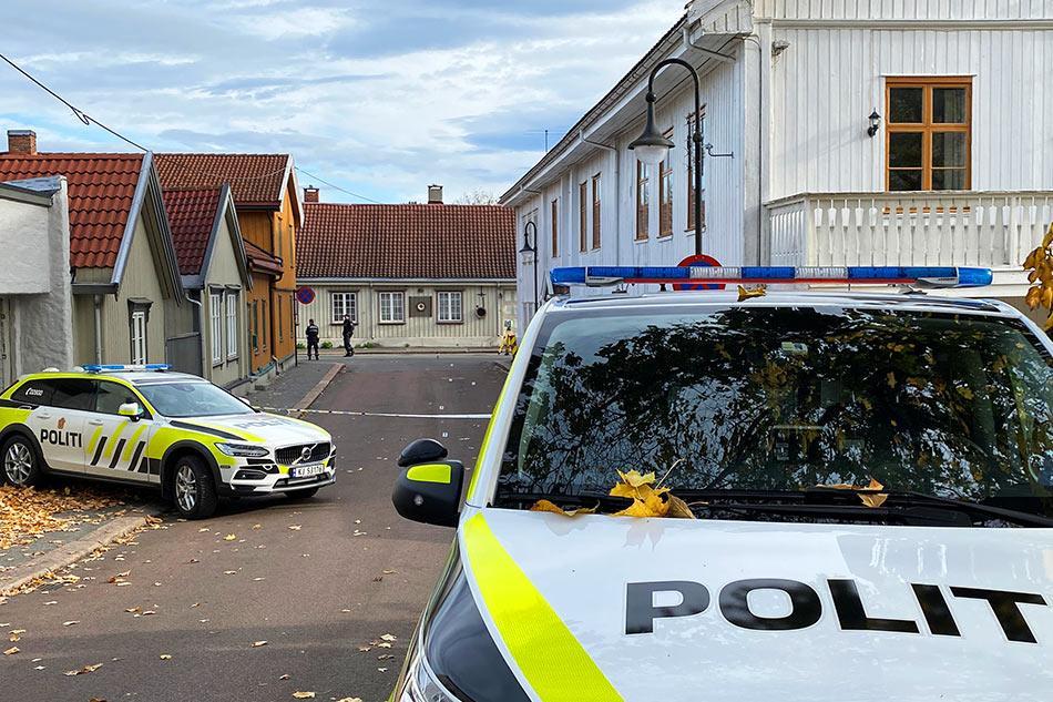 Members of the police work via Reuters