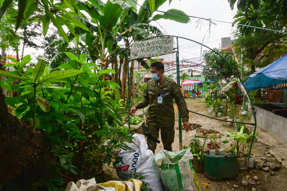 Soldiers visit urban garden in UP campus amid debate on UP-DND accord termination