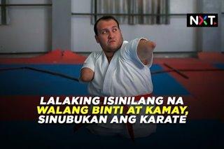 Lalaking isinilang na walang binti at kamay, sinubukan ang karate