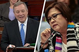 US senator in key post vows continued support for De Lima