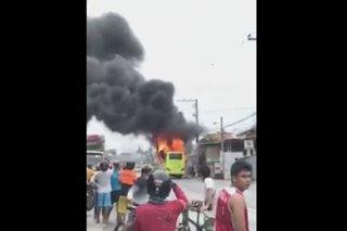 Bus nasunog sa Consolacion, Cebu