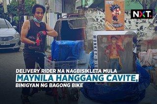 Delivery rider na nagbisikleta mula Maynila hanggang Cavite, binigyan ng bagong bike