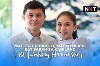 Matteo Guidicelli, may mensahe kay Sarah sa kanilang 1st wedding anniversary
