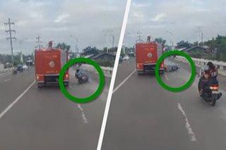 Motorista nagulungan ng fire truck sa GenSan sa gitna ng motorcade