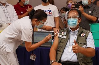 Galvez says inoculation of all medical frontliners may take until mid-April