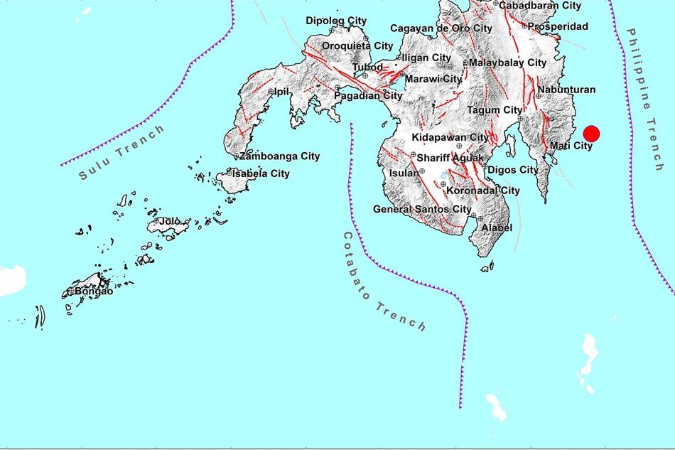 Magnitude 4.9 quake strikes off Davao Oriental: Phivolcs 1