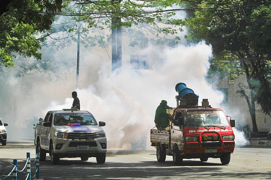Disinfection in Malate, Manila
