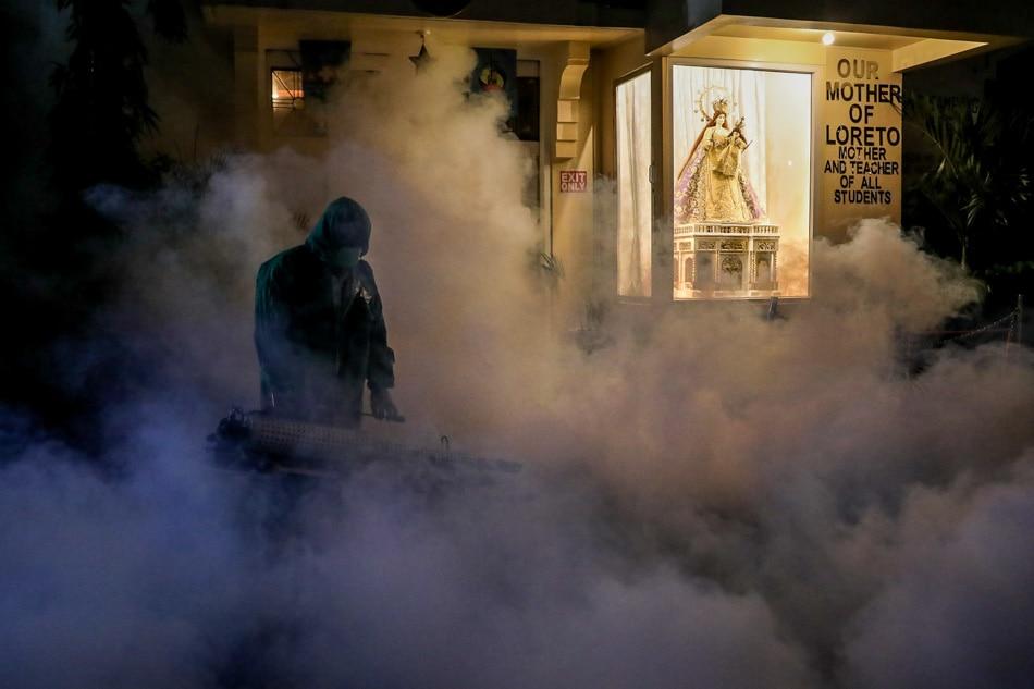 Church disinfection on Maundy Thursday