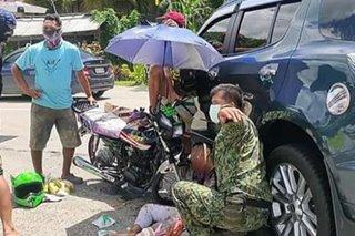 Motorcycle rider patay nang mabangga ng SUV sa Iloilo