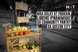 Mga gulay at pagkain, libreng ipinamimigay sa community pantry sa Quezon City