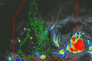 Tropical storm outside PAR slightly intensifies ahead of PH entry