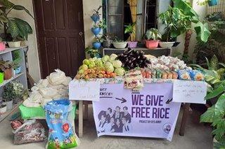 Filipino K-pop fans set up community pantries
