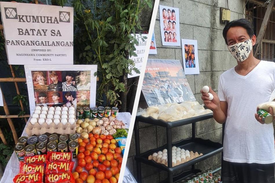 Filipino K-pop fans set up community pantries 4