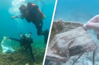 Halos 600 kilo ng basura, nakolekta sa ilalim ng dagat sa Batangas, Samal Island