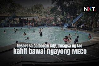 Resort sa Caloocan City, dinagsa ng tao kahit bawal ngayong MECQ
