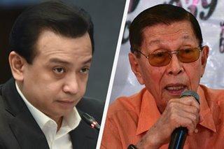 Enrile, Trillanes nagpatutsadahan ukol sa West PH Sea issue