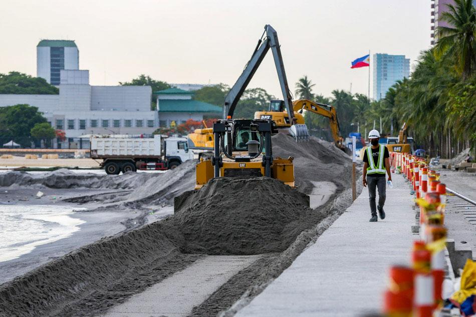 Manila Bay dolomite beach makeover continues