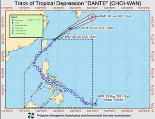 'Dante' now out of PAR: PAGASA