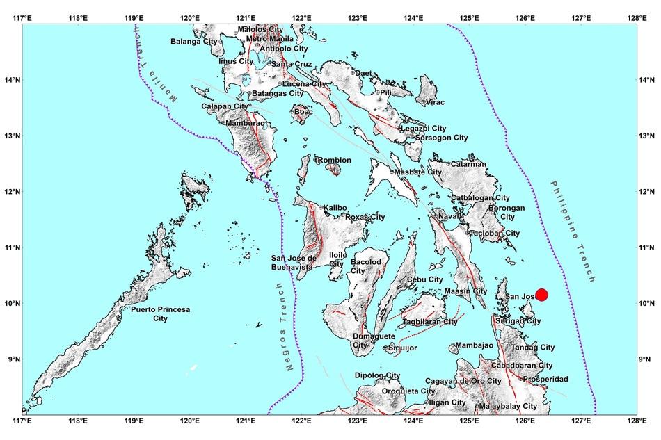 Twin quakes strike off Surigao del Norte 1