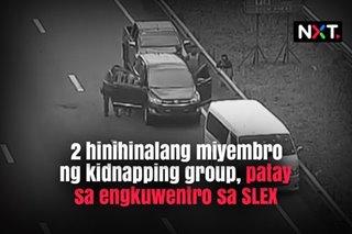2 hinihinalang miyembro ng kidnapping group, patay sa engkuwentro sa SLEX