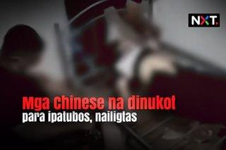 Mga Chinese na dinukot para ipatubos, nailigtas