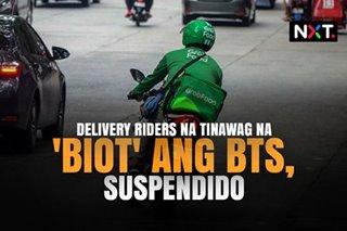 Delivery riders na tinawag na 'biot' ang BTS, suspendido