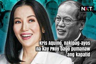 Kris Aquino, nakipag-ayos na kay PNoy bago pa pumanaw ang kapatid