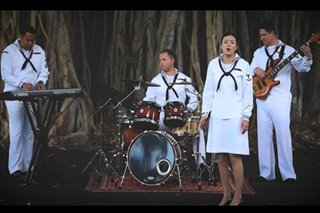 US navy band performs rendition of Moira's 'Paubaya'