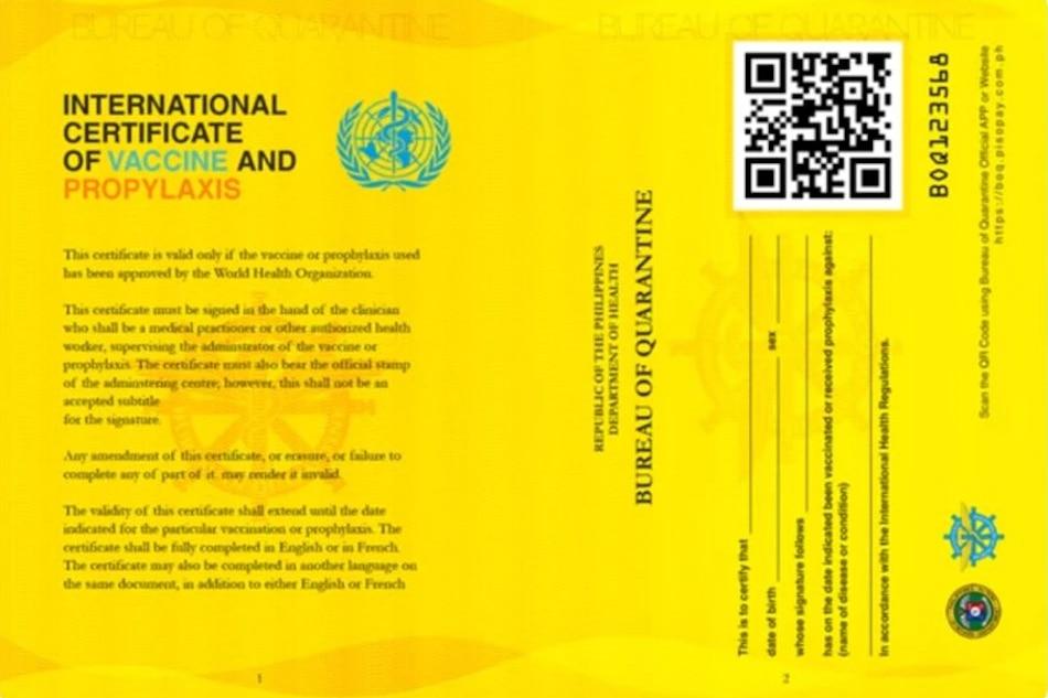 'Yellow card' for fully vaccinated travelers not mandatory, says quarantine bureau