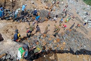 Mag-asawa natabunan sa landslide sa Benguet