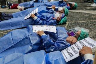 Health workers tuloy sa pagkalampag para sa benepisyo