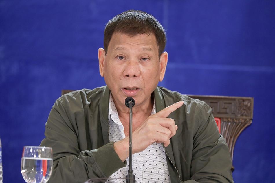 President Rodrigo Duterte during a public briefing at the Arcadia Active Lifestyle Center in Matina, Davao City on August 30, 2021. Simeon Celi, Presidential Photo/File