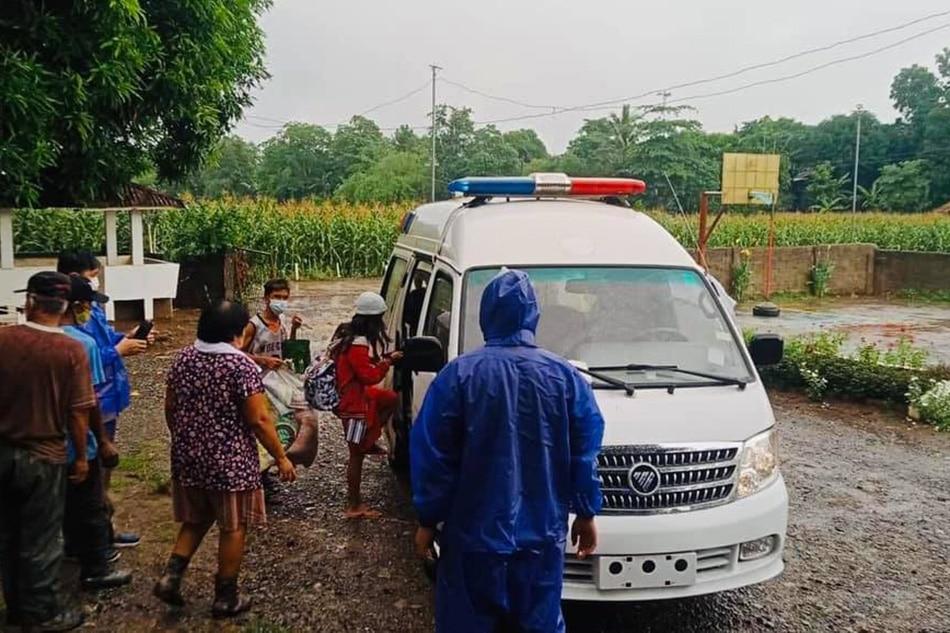 Evacuation in Baggao, Cagayan on Friday. Photos courtesy of the Baggao Information Office