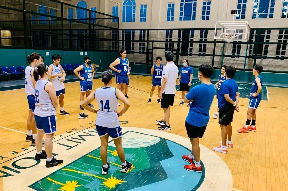 The Gilas Pilipinas Women during their training camp in Batangas. Photo courtesy of the Samahang Basketbol ng Pilipinas