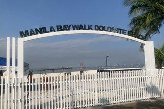 Manila Bay Dolomite Beach, nilagyan na ng arko at gate