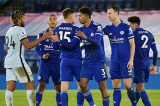 Football: Leicester go top with 2-0 win over Chelsea
