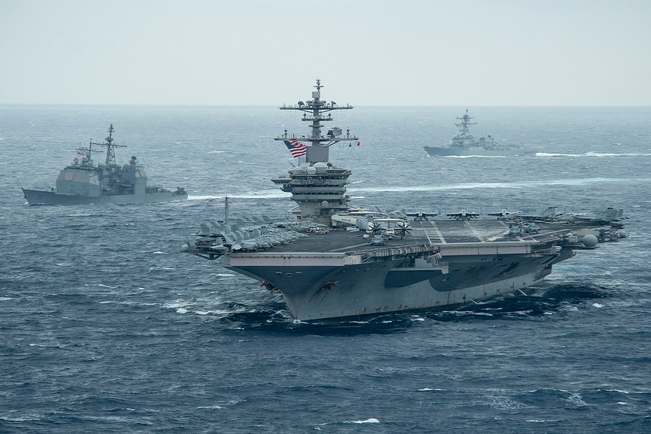 US carrier group enters S.China Sea amid Taiwan tensions