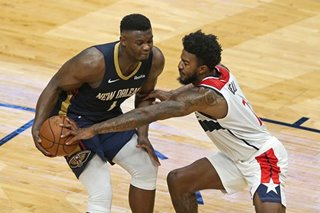 NBA: Brandon Ingram, Zion Williamson push Pelicans past Wizards
