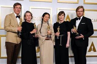 'Nomadland' wins best picture Oscar, Hopkins wins over Boseman