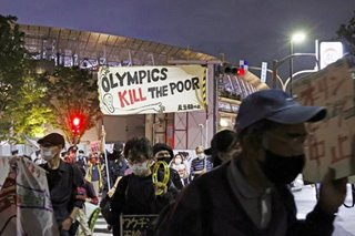 Protest against Tokyo Olympics