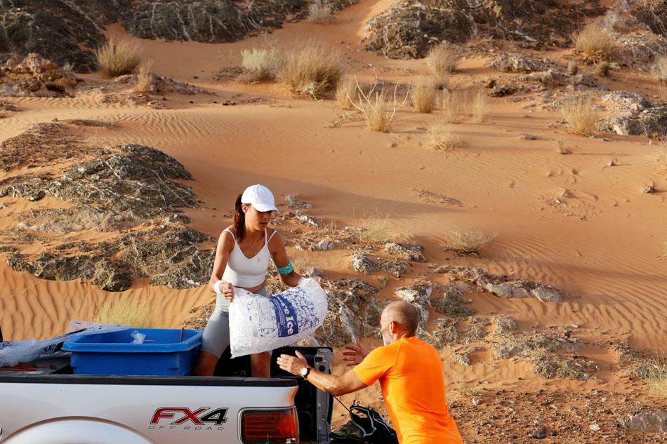 Ice baths for the mind and body break heat of UAE desert 2