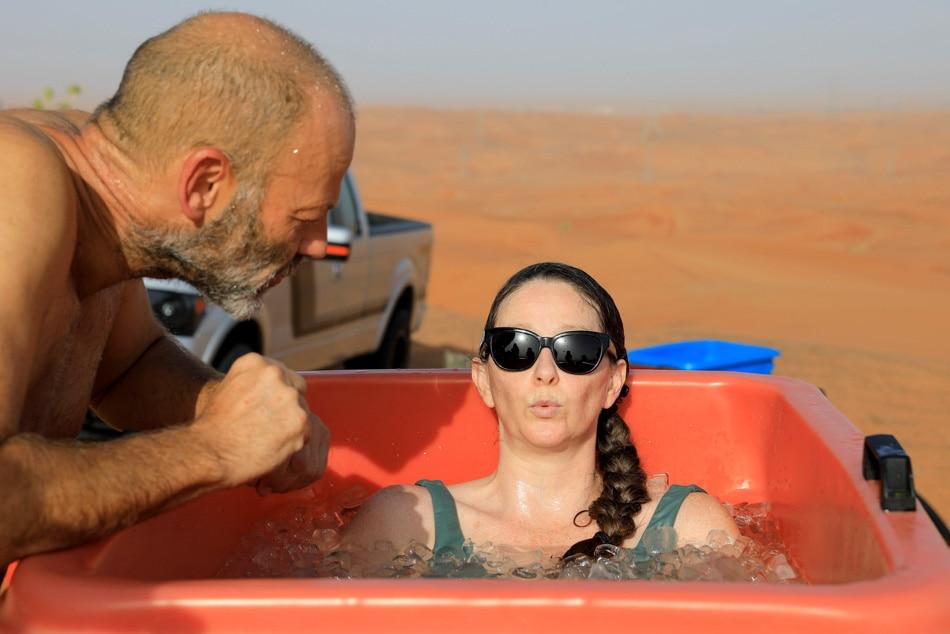 Ice baths for the mind and body break heat of UAE desert 5