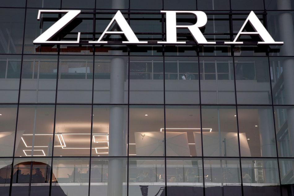 FILE PHOTO: The logo of the Zara store is seen in a mall at Vina del Mar, Chile July 14, 2019. REUTERS/Rodrigo Garrido/File Photo
