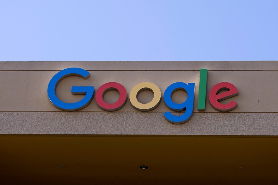 The Google sign is shown on one of the company's office buildings in Irvine, California, U.S., October 20, 2020. Mike Blake, Reuters/File Photo