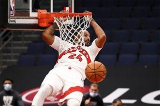 NBA: Raptors knock off Hornets, 111-108
