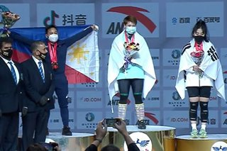 Weightlifting: PH's Elreen Ando clinches 3 medals at Asian Championships