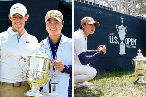 Golf: Yuka Saso meets idol Rory McIlroy, as champ meets champ